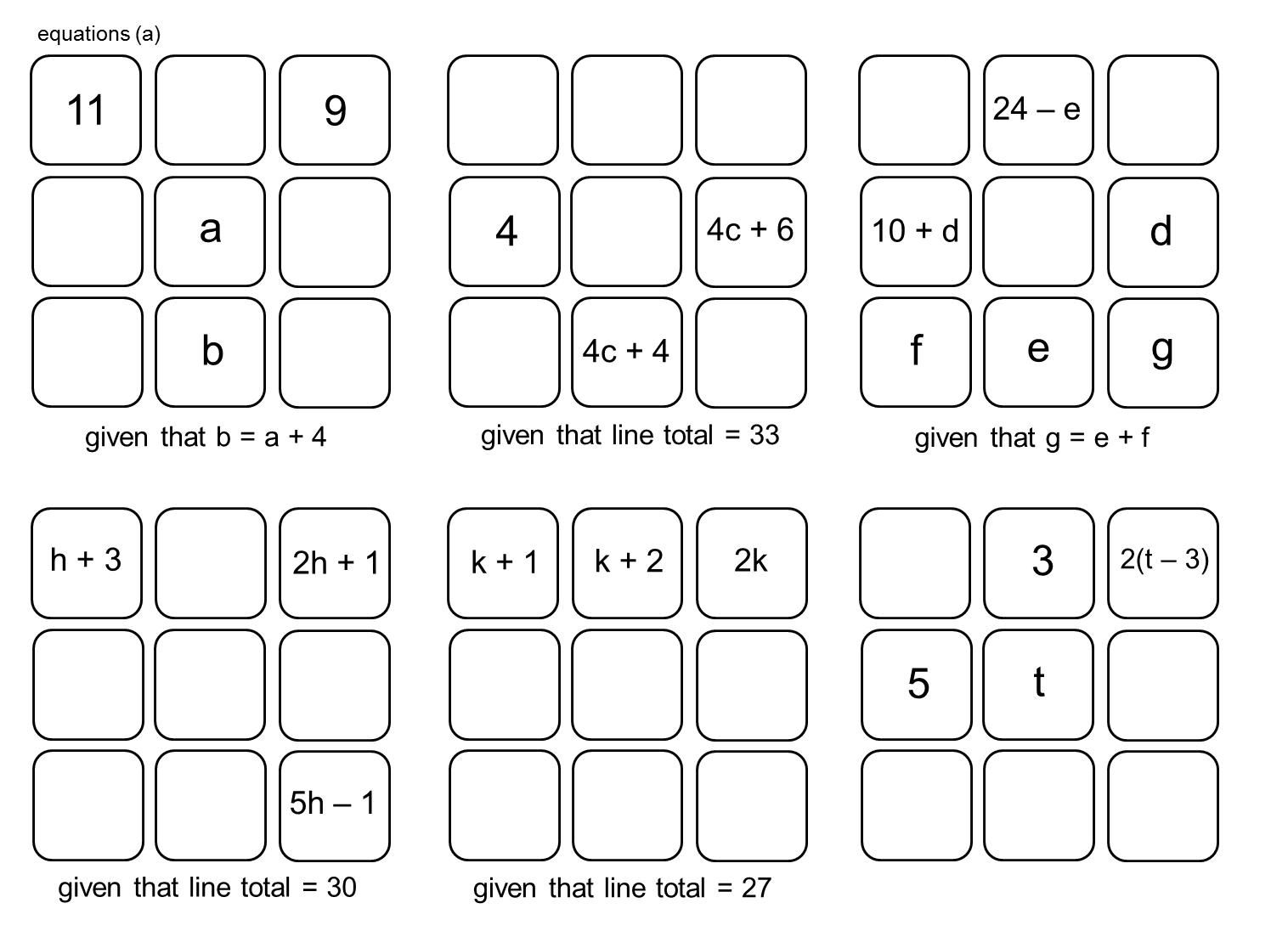 Median Don Steward Magic Squares Linear Equations