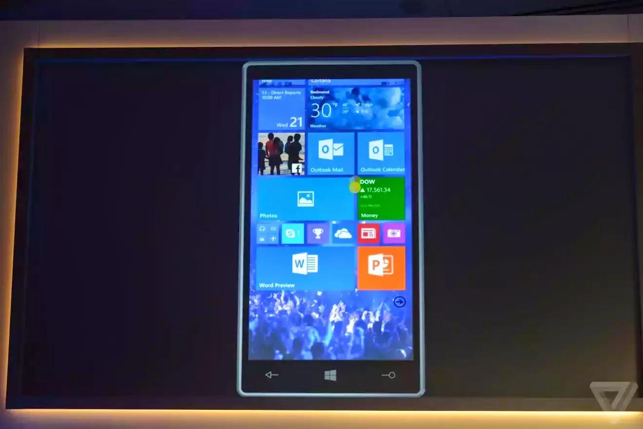 Giao diện của Windows Phone 10