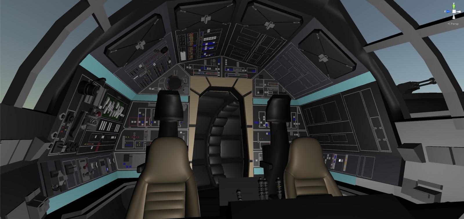 Millennium Falcon Cockpit Outside