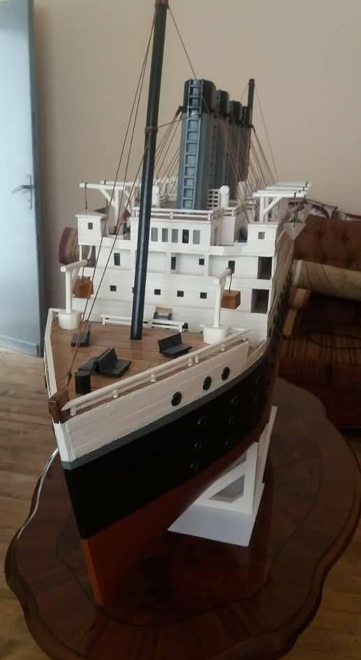 Titanic ship in miniature