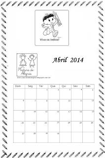 Calendário abril 2014