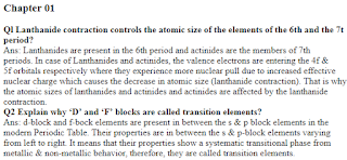 2nd Year Chemistry Chapter 1 Important Short Questions