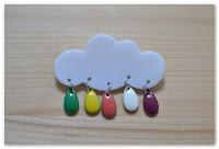 broche nuage gouttes et couleurs estivales