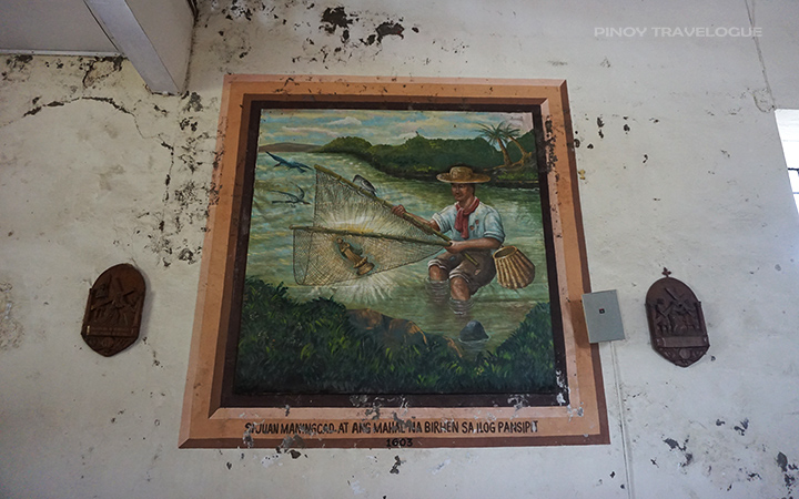 Mural depicting Juan Maningcad when he found the image at Pansipit River