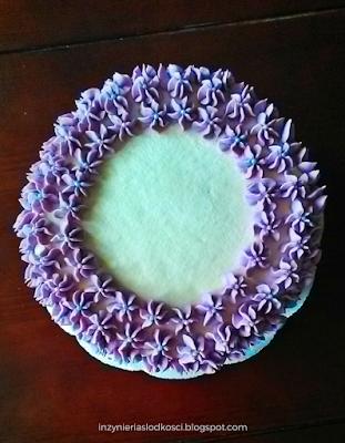 Tort szachownica z kremem budyniowym - checkerboard cake