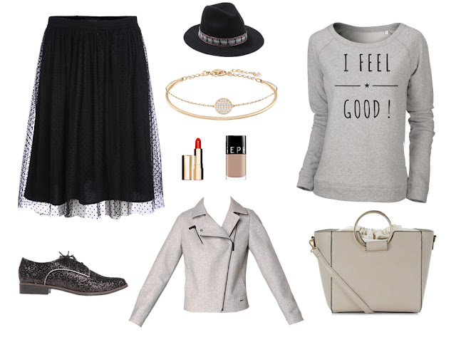idée tenue avec sweat gris I feel good - ArteCita ECOFashion