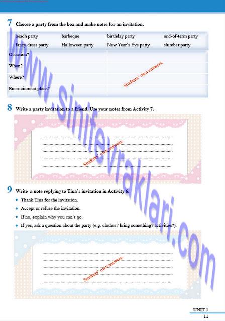 8. Sınıf İngilizce Tutku Yayınları Çalışma Kitabı Cevapları Sayfa 11