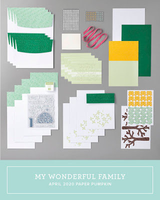 March 2020 Stampin' Up! Paper Pumpkin all-inclusive monthly stamp kit   My Wonderful Family   Nicole Steele The Joyful Stamper
