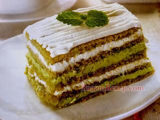 Resep Cake Opera Green Tea Manis Alami