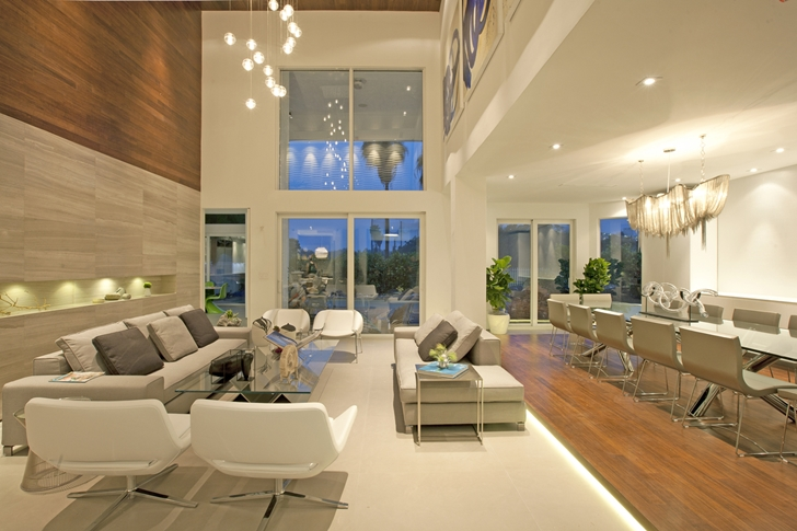 Living Room In Modern Home By Dkor Interiors