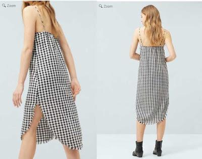 vestido barato de cuadros