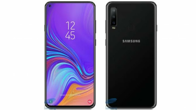 Screen protector image leak reveals  In-display Camera of Samsung Galaxy A8s-FBARA