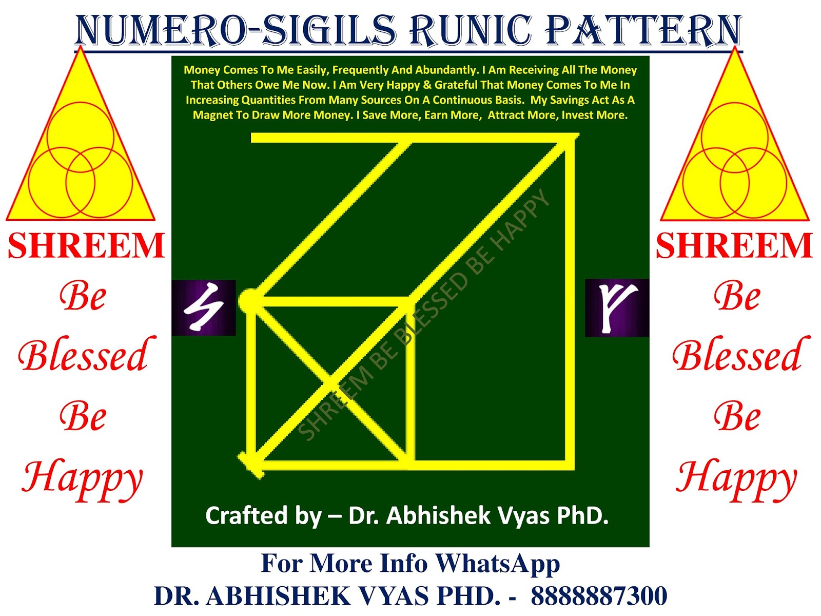 ☣Free Universal Numero-Sigil Runic Pattern For RECEIVING MONEY FROM