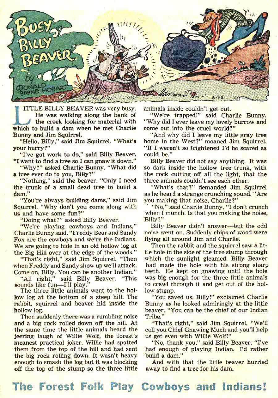 Coo Coo Comics #34 golden age 1950s funny animal comic book page by Frank Frazetta