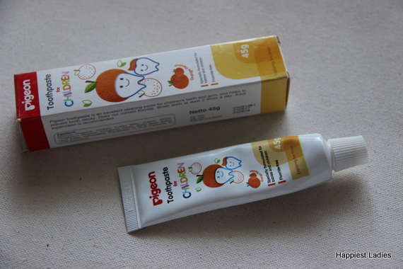 Pigeon Children Toothpaste Orange Flavour Review