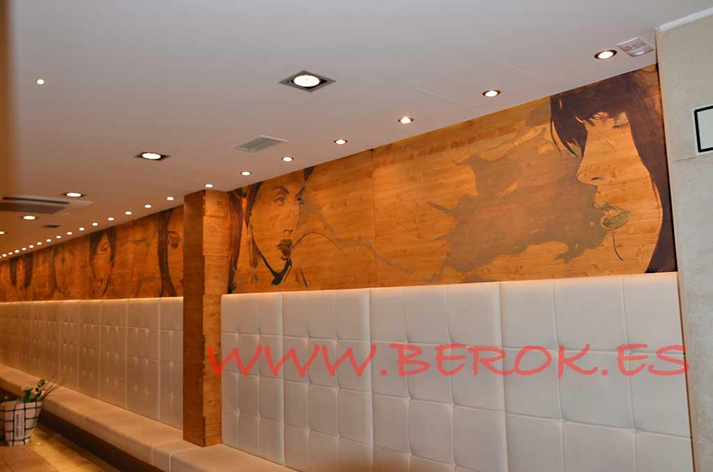 Berok graffiti mural profesional en barcelona arte en murales - Pintura mural barcelona ...