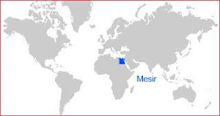 Gambar Peta letak Mesir