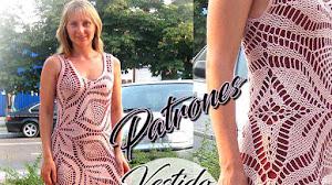 Cómo tejer un vestido con un patrón redondo para tapetes o carpetas