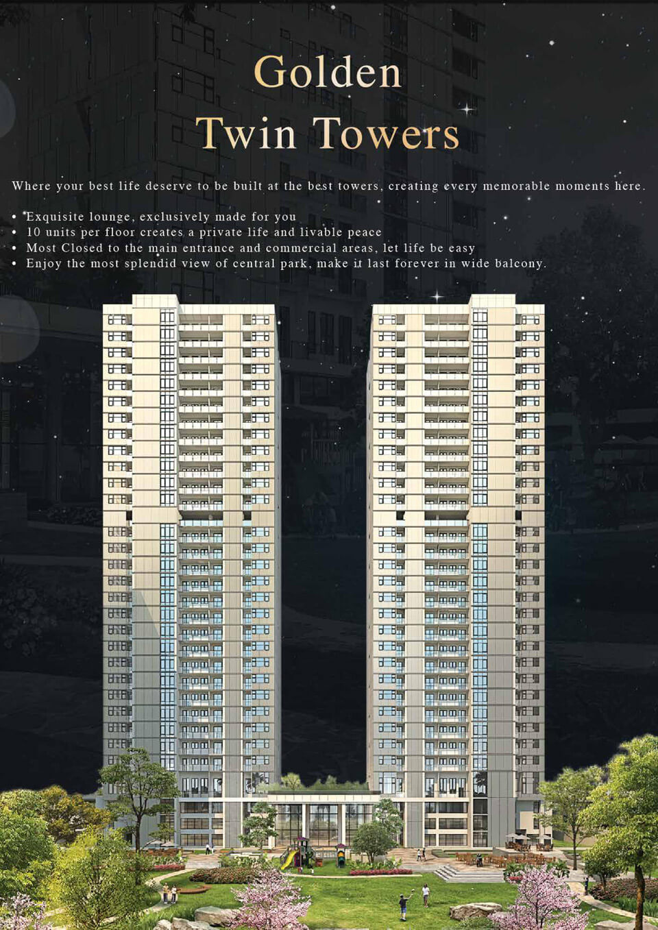 Golden Twin Towers DAMOCI Apartment