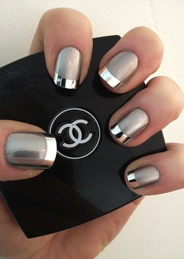 Metallic Manis for the Unconventional Bride