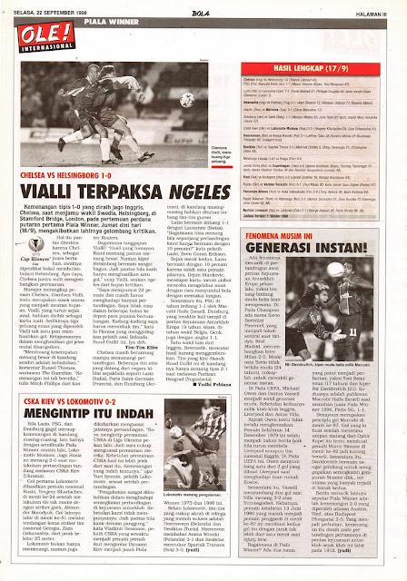 GIANLUCA VIALLI CUP WINNERS CHELSEA VS HELSINGBORG 1-0