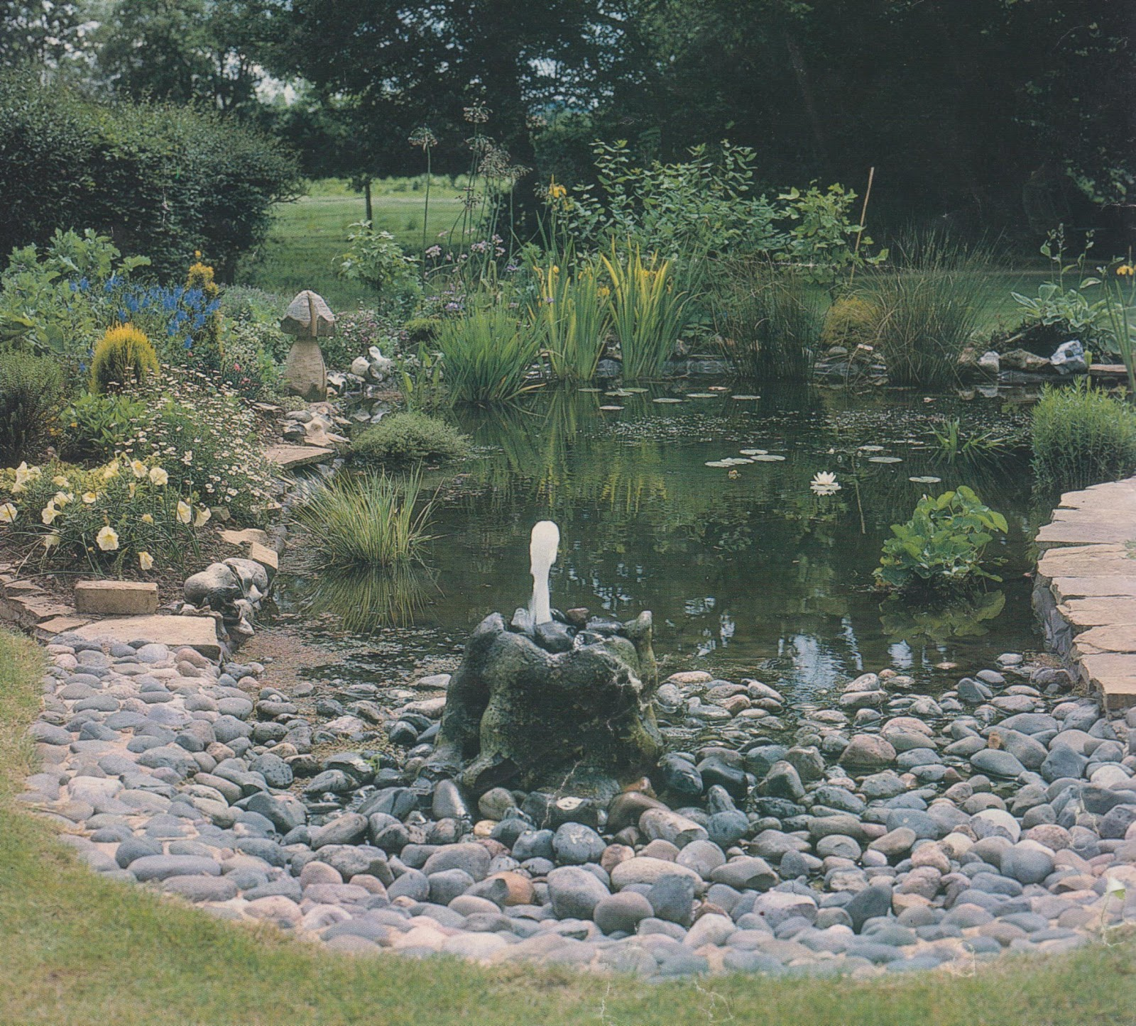 Wildlife Pond Surrounded By Pebbles: A Yorkshire Garden Designer