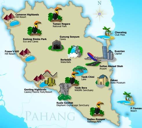 Senarai Lokasi Menarik Di Pahang