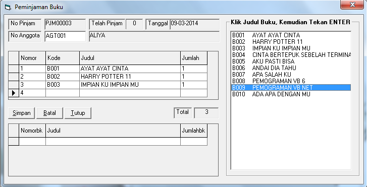 Download Program Aplikasi Perpustakaan Menggunakan VB 6.0