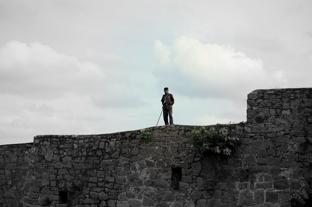 guard on the wall of fort