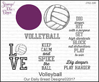 ODBD Volleyball Stamp/Die Duos