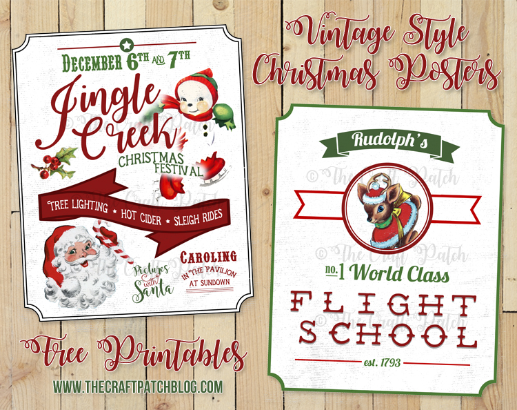 The Craft Patch: Free Printable Vintage-Style Christmas Posters