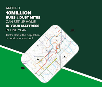 Around 10 million dustmites can move into a mattress in a year.