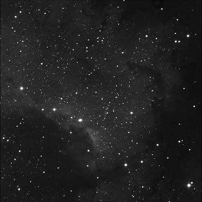 RASC Finest emission nebula NGC 7000 portion luminance