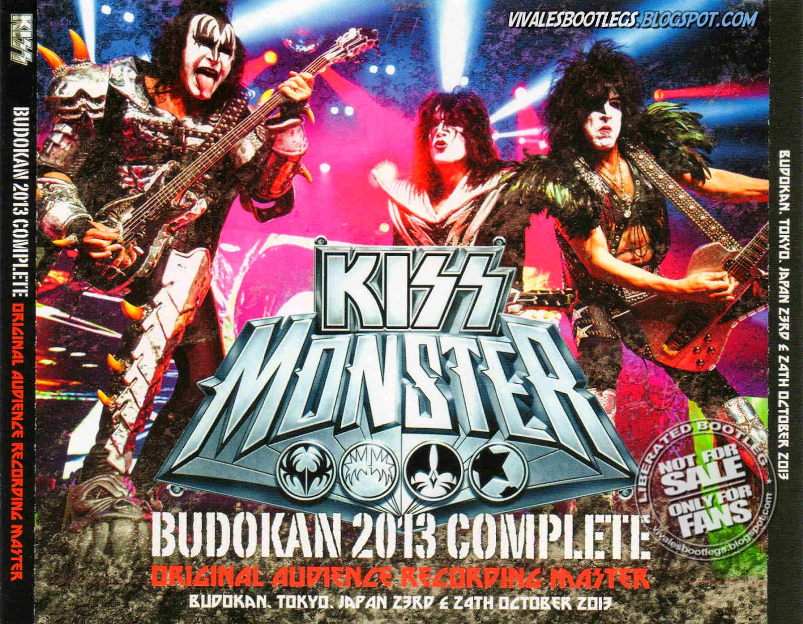 kiss budokan 2013 complete  front cover