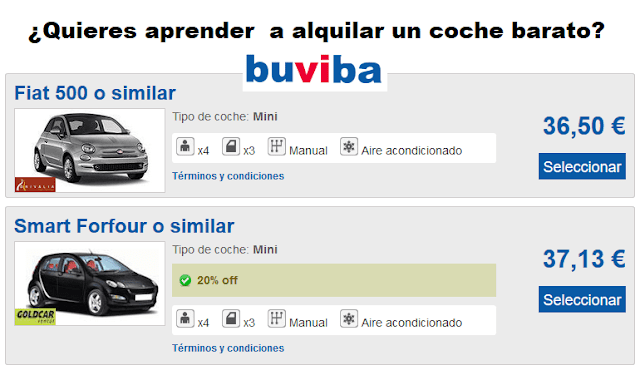 Cómo alquilar coches baratos en buviba