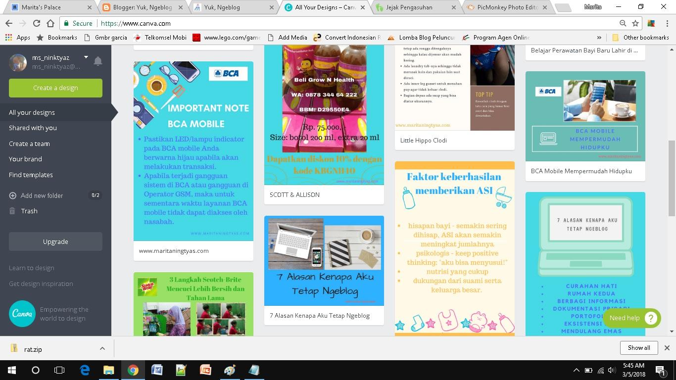 Cara Membuat dan Memasang Gambar untuk Header Blog di Blogspot desain cantik canva