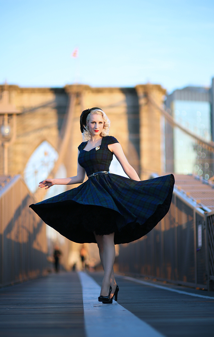 Rachel Ann Jensen Velvet Amp Plaid Brooklyn Bridge