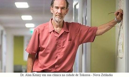Dr. Alan Kenny em sua clínica na cidade de Tokoroa - Nova Zelândia