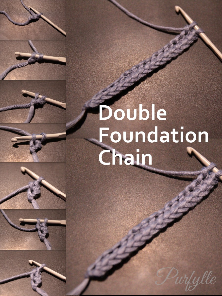 How to crochet double foundation chain