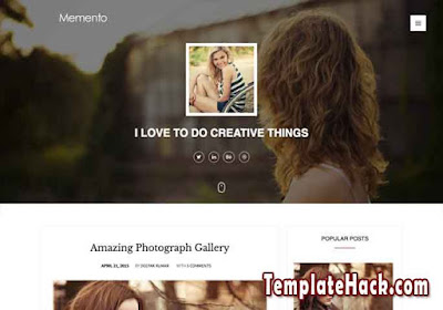memento blogger template