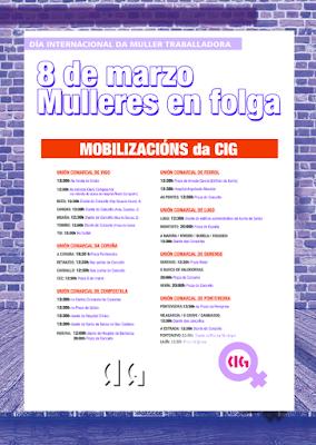 cartaz mobilizacións «Folga de Mulleres - 2018»