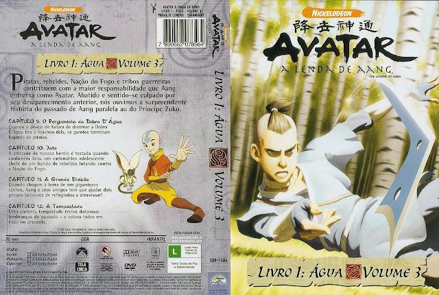 Capa DVD AVATAR A LENDA DE AANG LIVRO 1: ÁGUA VOLUME 4