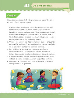 Apoyo Primaria Desafíos Matemáticos 1er Grado Bloque 4 Leccción 41 De diez en diez