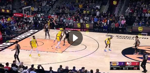 Replay Lakers Vs Hawks 2019 2020 Nba Season Sportspinas