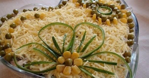 Вкусный блог: Салатик с курицей,грибами и сыром - просто и ...