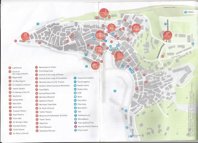 Mapa turístico de Piran