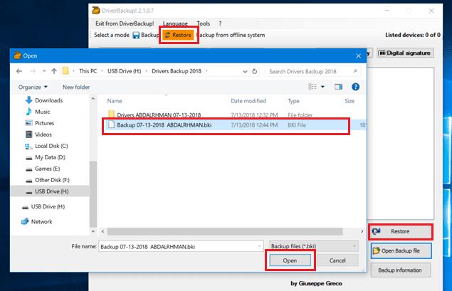 استرجاع التعريفات بعد تثبيت نسخة ويندوز جديدة