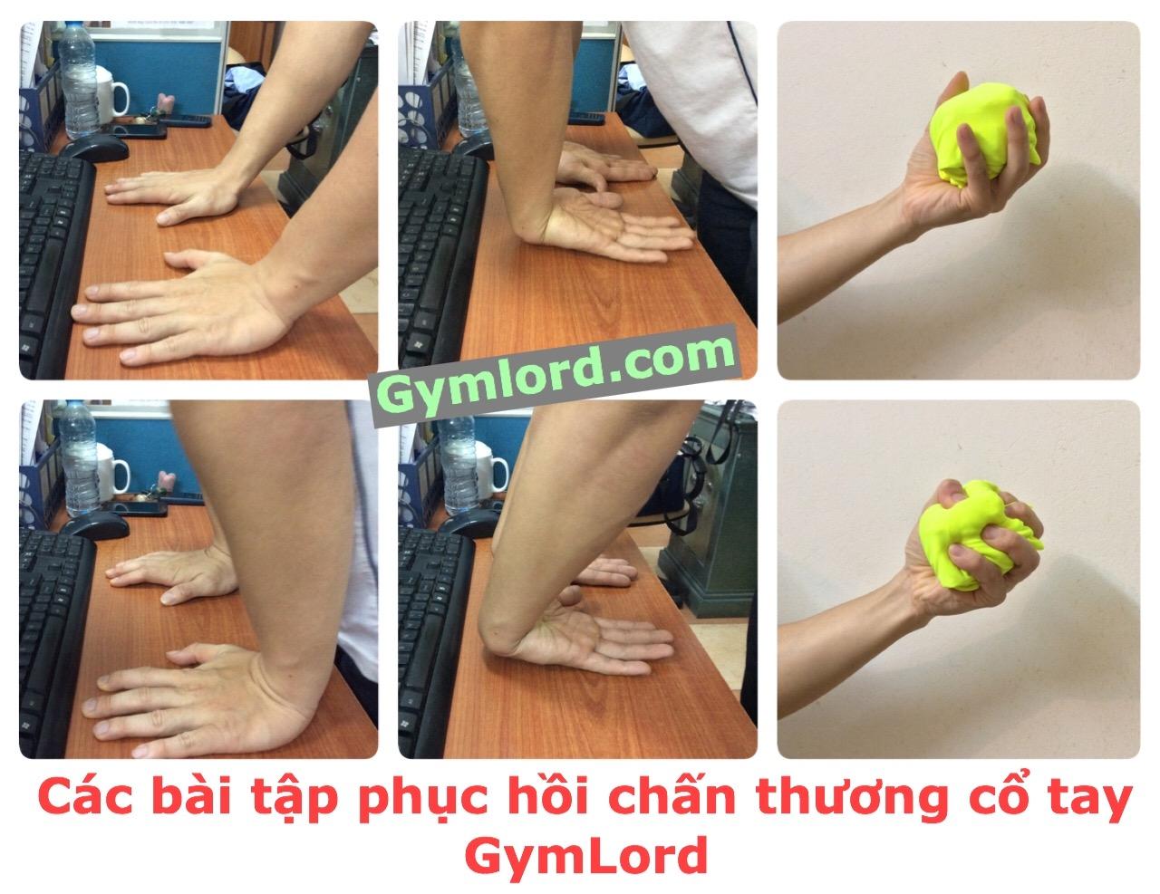 Bài tập phục hồi chấn thương cổ tay 1