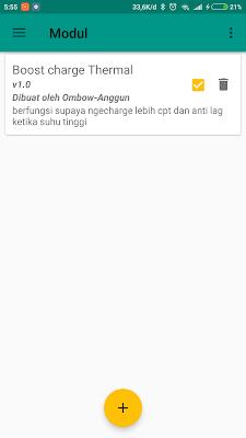 Modul Fast Charging Magist Root Universial Smartphone Xiaomi sudah aktif