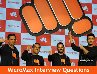 Micromax Interview Questions